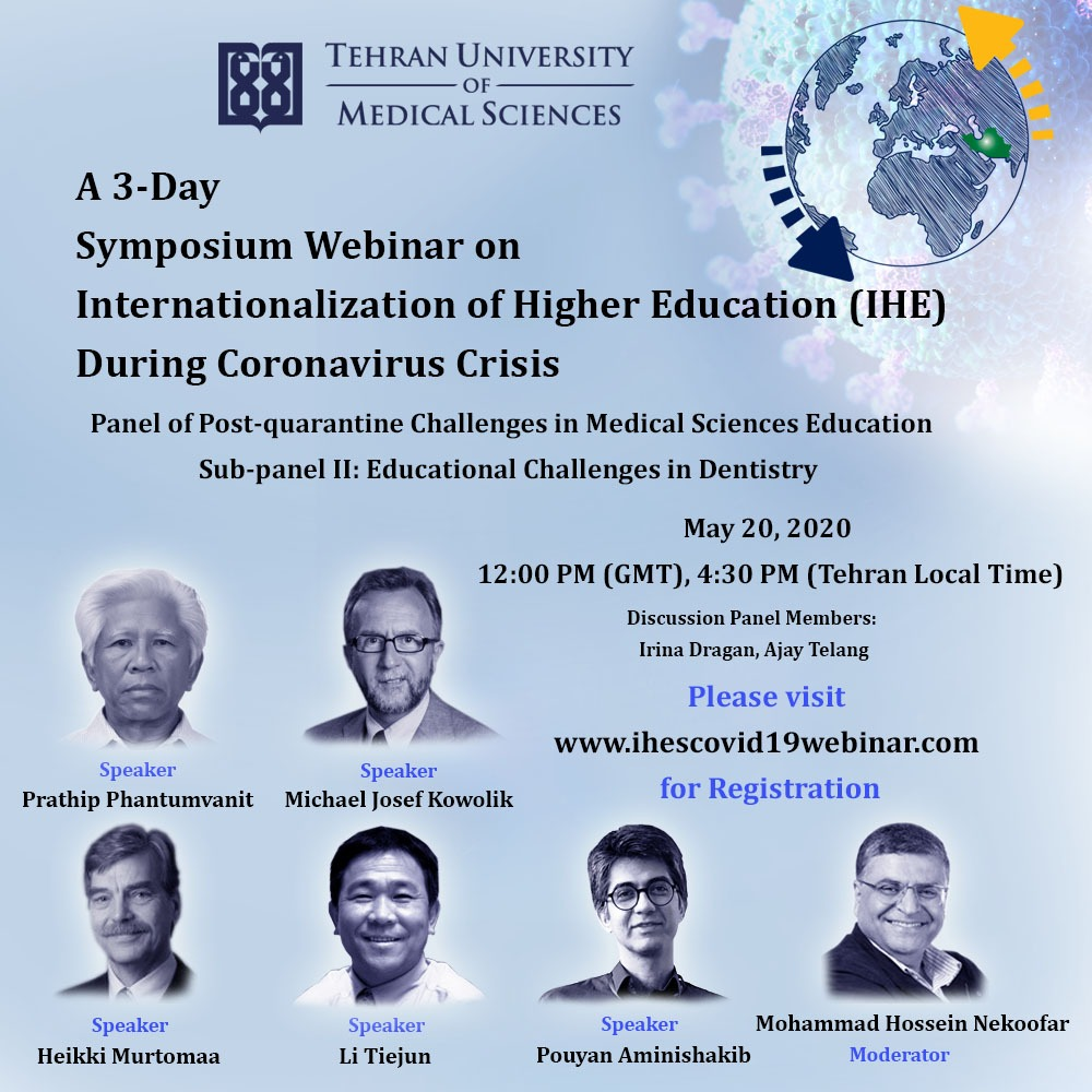 A 3-Day Symposium Webinar on Internationalization of Higher Education (IHE) during Coronavirus Crisi...